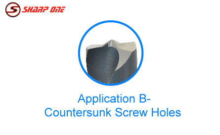 Application - Counter sunk screw holes B